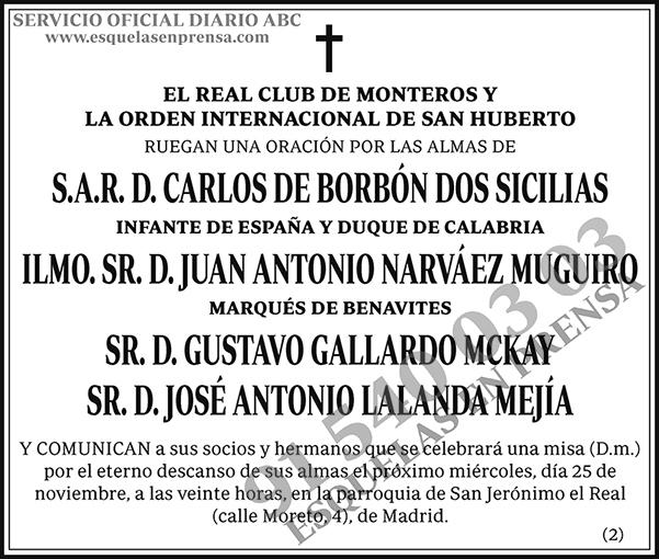 Real Club de Monteros y La Orden Internacional de San Huberto